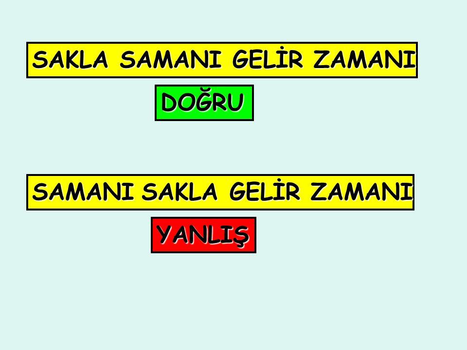 Sözcükler eş anlamları 4-) Sözcükler eş anlamları bile olsa değiştirilemez.