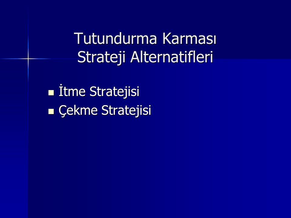 Tutundurma Karması Strateji Alternatifleri İtme Stratejisi İtme Stratejisi Çekme Stratejisi Çekme Stratejisi