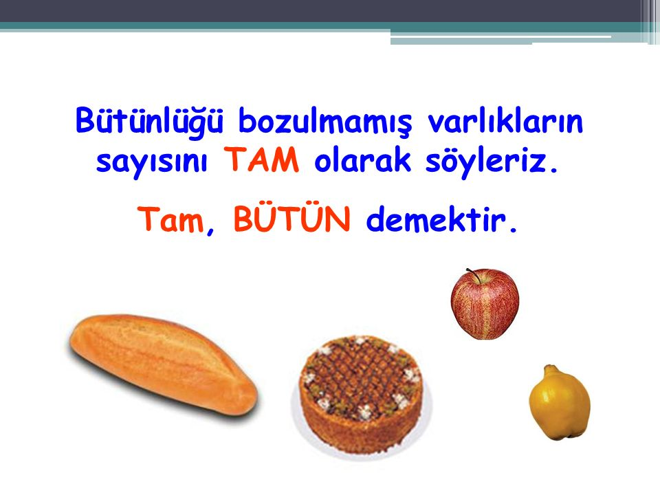 Resimdeki elmaların yarısı kaçtır? 2 elmanın yarısı 1 elmadır