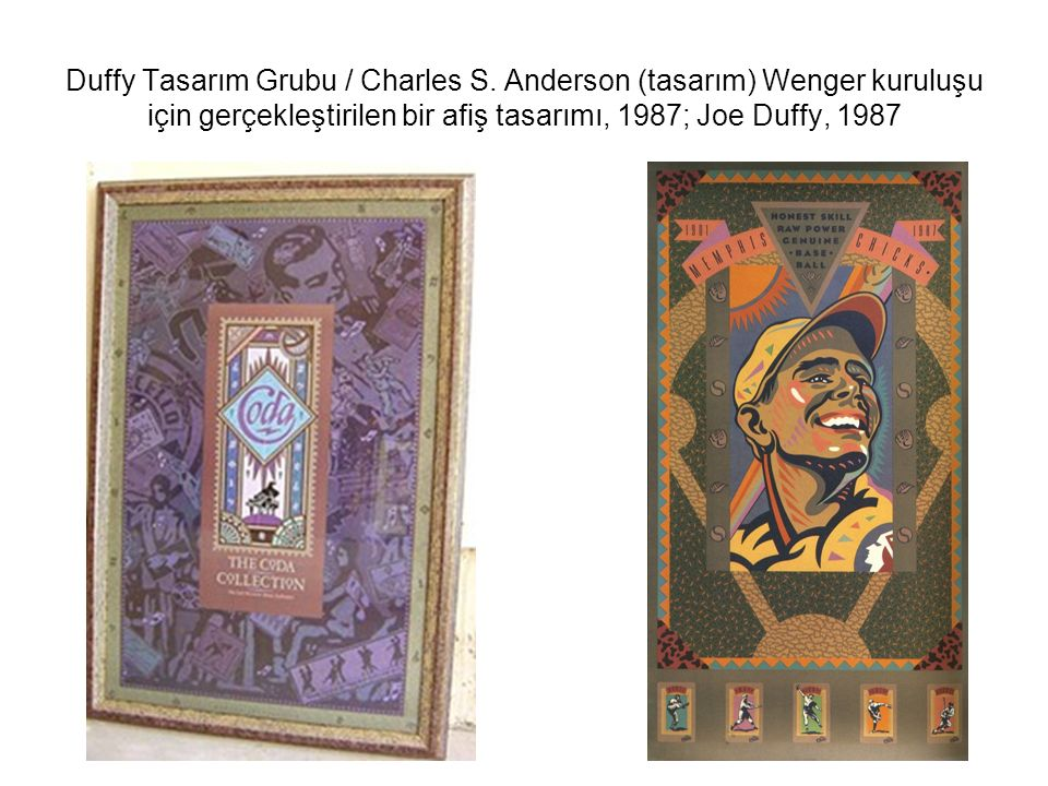 Duffy Tasarım Grubu / Charles S. Anderson (tasarım) Wenger kuruluşu için gerçekleştirilen bir afiş tasarımı, 1987; Joe Duffy, 1987