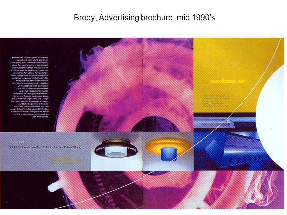 Brody, Advertising brochure, mid 1990 s