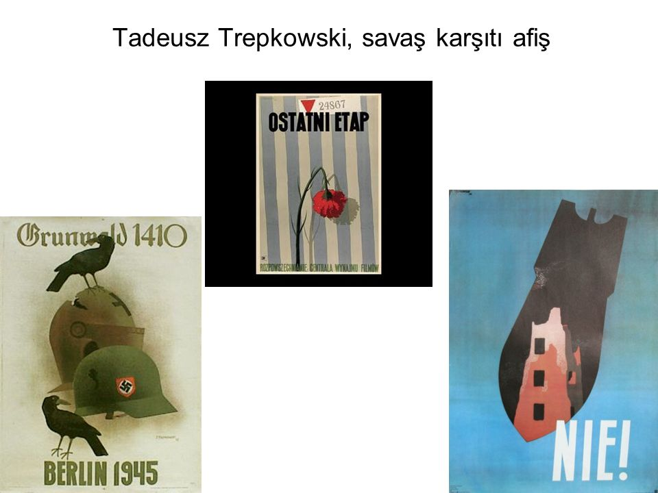 Tadeusz Trepkowski, savaş karşıtı afiş