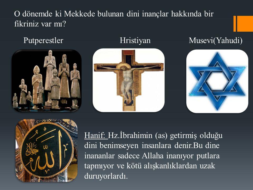 O dönemde ki Mekkede bulunan dini inançlar hakkında bir fikriniz var mı.