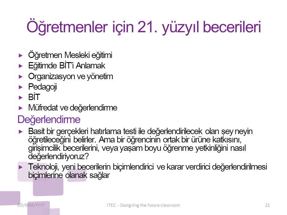 Öğretmenler için 21.