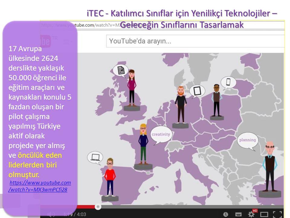 17 Avrupa ülkesinde 2624 derslikte yaklaşık 50.000 öğrenci ile eğitim araçları ve kaynakları konulu 5 fazdan oluşan bir pilot çalışma yapılmış Türkiye