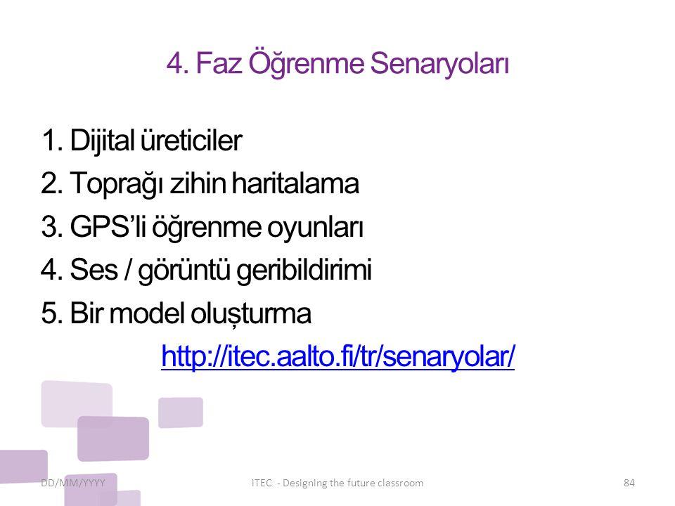 4.Faz Öğrenme Senaryoları 1. Dijital üreticiler 2.