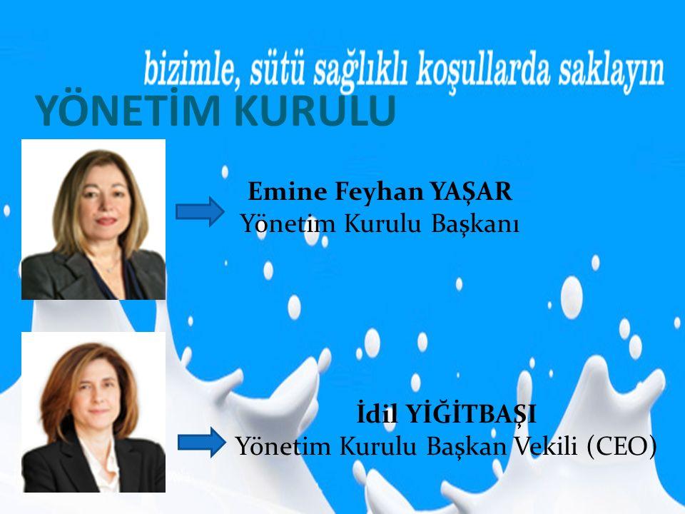 YÖNETİM KURULU Emine Feyhan YAŞAR Yönetim Kurulu Başkanı İdil YİĞİTBAŞI Yönetim Kurulu Başkan Vekili (CEO)