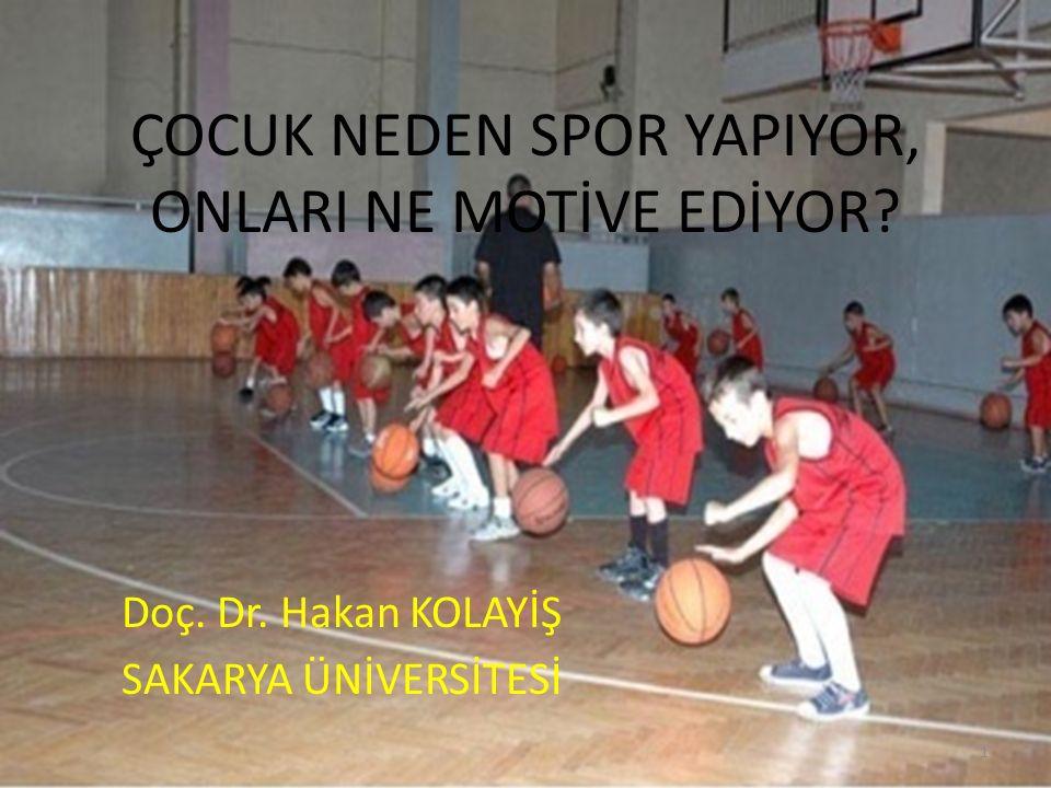 Birçok faktör çocuk ve gençlerin spora katılımını motive etmektedir.