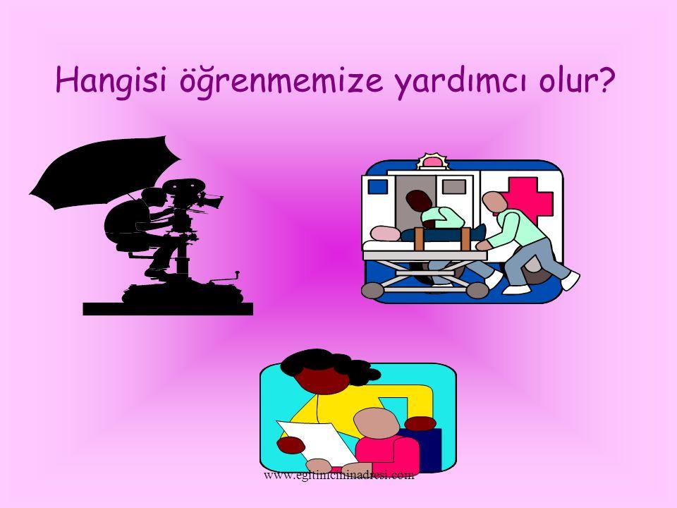 Hangisi öğrenmemize yardımcı olur? www.egitimcininadresi.com
