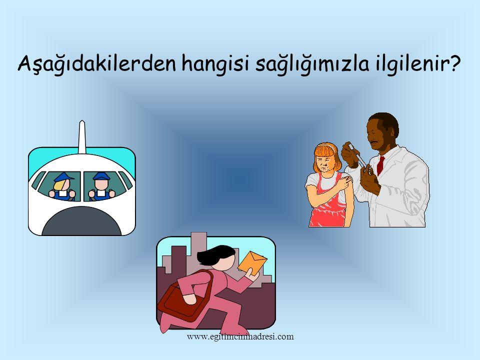 Aşağıdakilerden hangisi sağlığımızla ilgilenir? www.egitimcininadresi.com