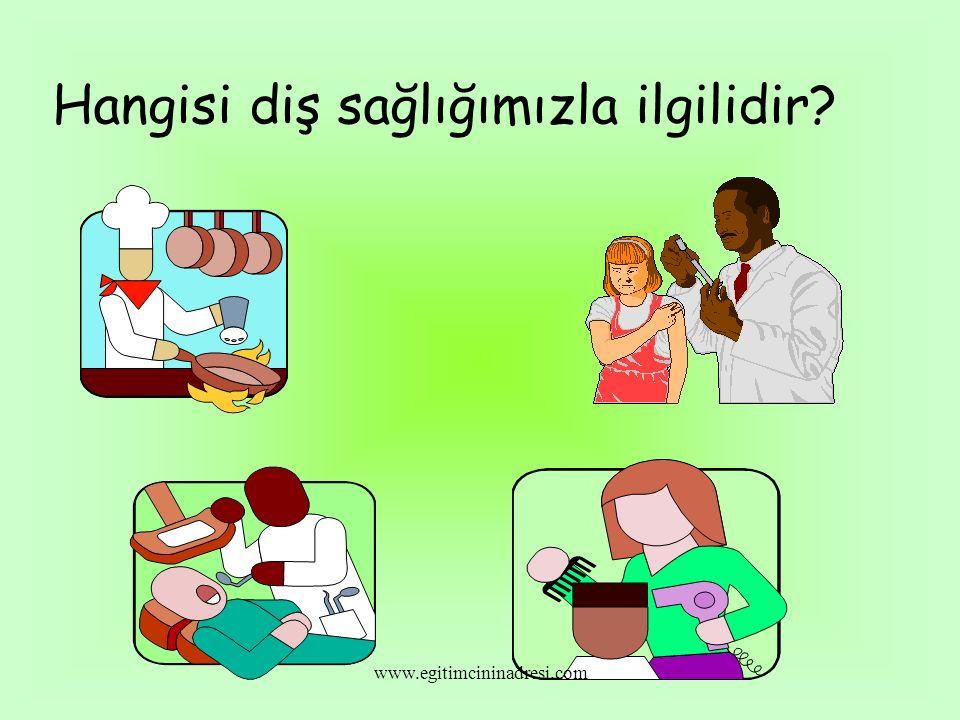 Hangisi diş sağlığımızla ilgilidir? www.egitimcininadresi.com