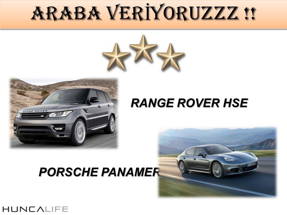 ARABA VER İ YORUZZZ !! RANGE ROVER HSE PORSCHE PANAMERA
