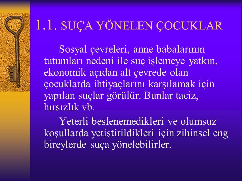 1.ANTİSOSYAL DAV GÖSTERENLER 2.ALIŞKANLIK VE EĞİTİM PROB.