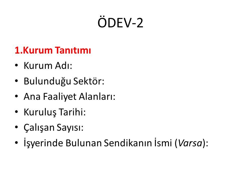 ÖDEV-2 2.Performans Değerlendirme Süreci Tanıtımı Performans planlama süreci.