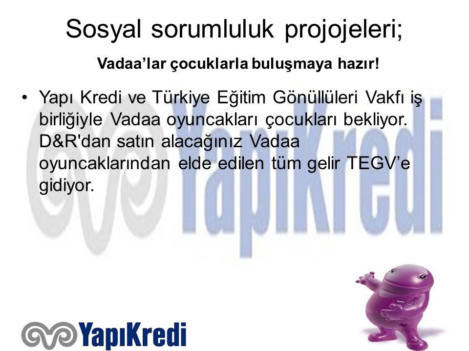 Sosyal sorumluluk projojeleri; Vadaa'lar çocuklarla buluşmaya hazır! Yapı Kredi ve Türkiye Eğitim Gönüllüleri Vakfı iş birliğiyle Vadaa oyuncakları ço