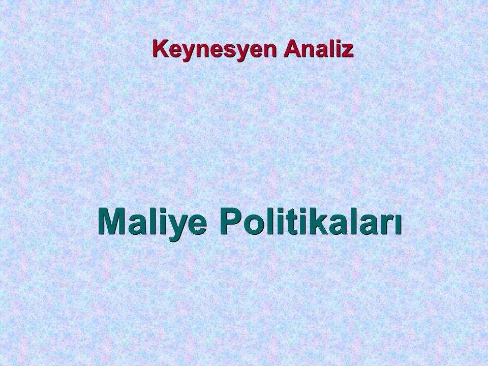 Keynesyen Analiz Maliye Politikaları