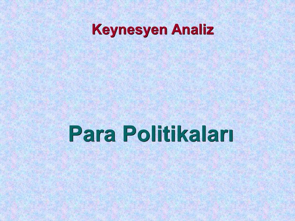 Keynesyen Analiz Para Politikaları