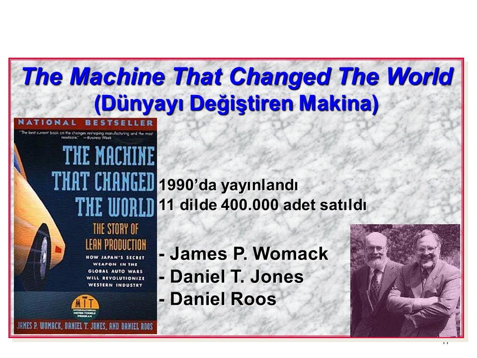 11 The Machine That Changed The World (Dünyayı Değiştiren Makina) 1990'da yayınlandı 11 dilde 400.000 adet satıldı - James P. Womack - Daniel T. Jones