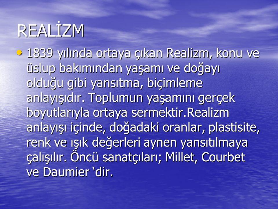 REALİZM (GERÇEKÇİLİK)