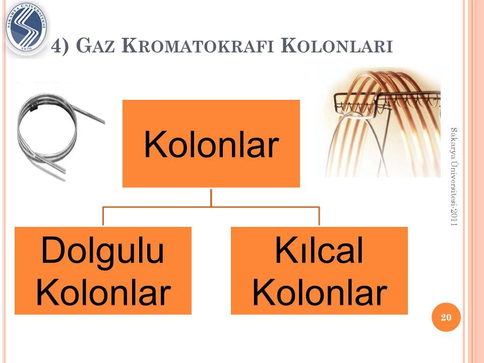 4) G AZ K ROMATOKRAFI K OLONLARI Dolgulu Kolonlar; Daha büyük miktardaki ayrımları gerçekleştirebilirler.