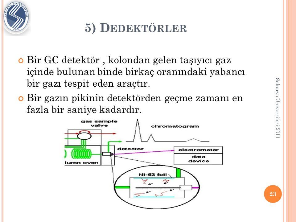 5) D EDEKTÖRLER Bir detektörde aranan başlıca özellikler şunlardır: a)Duyarlılığı yüksek olmalıdır.