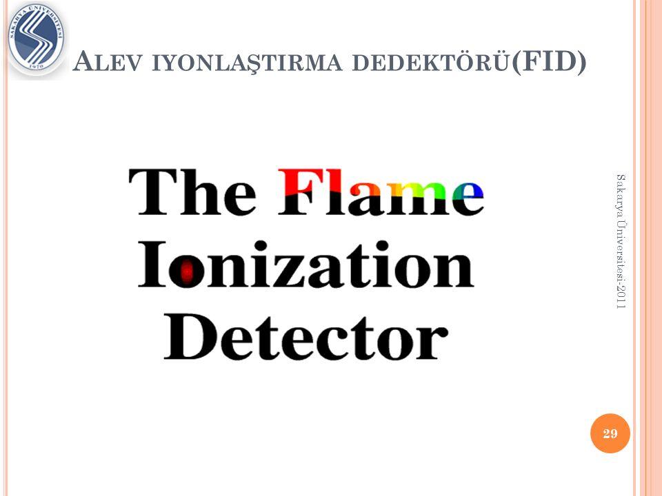 E LEKTRON Y AKALAMA D EDEKTÖRÜ (ECD) 30 Sakarya Üniversitesi-2011 Sinyal artışı yerine sinyal kaybını ölçer.