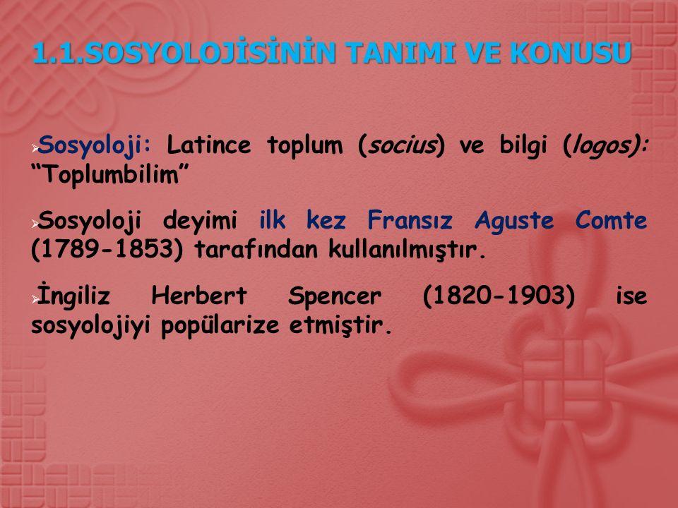 1.3.3.Sosyal Statü ve Rol  Statü, sadece bir haklar ve yükümlülükler toplamıdır.