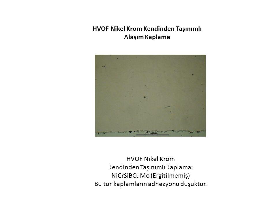HVOF Nikel Krom Kendinden Taşınımlı Alaşım Kaplama HVOF Nikel Krom Kendinden Taşınımlı Kaplama: NiCrSiBCuMo (Ergitilmemiş) Bu tür kaplamların adhezyon