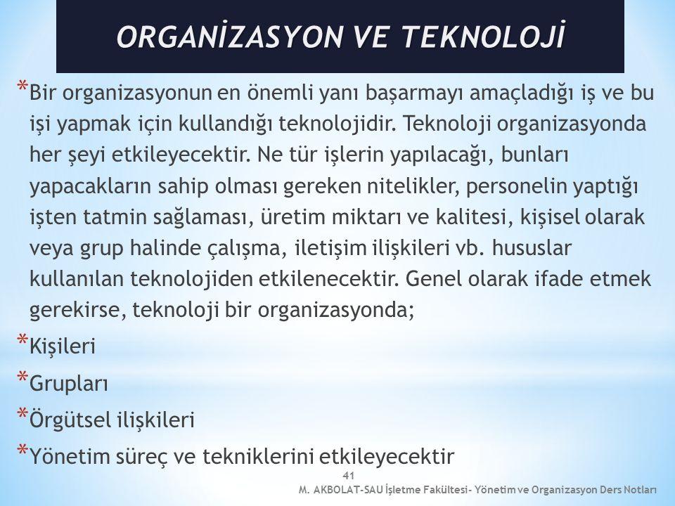 41 * Bir organizasyonun en önemli yanı başarmayı amaçladığı iş ve bu işi yapmak için kullandığı teknolojidir.