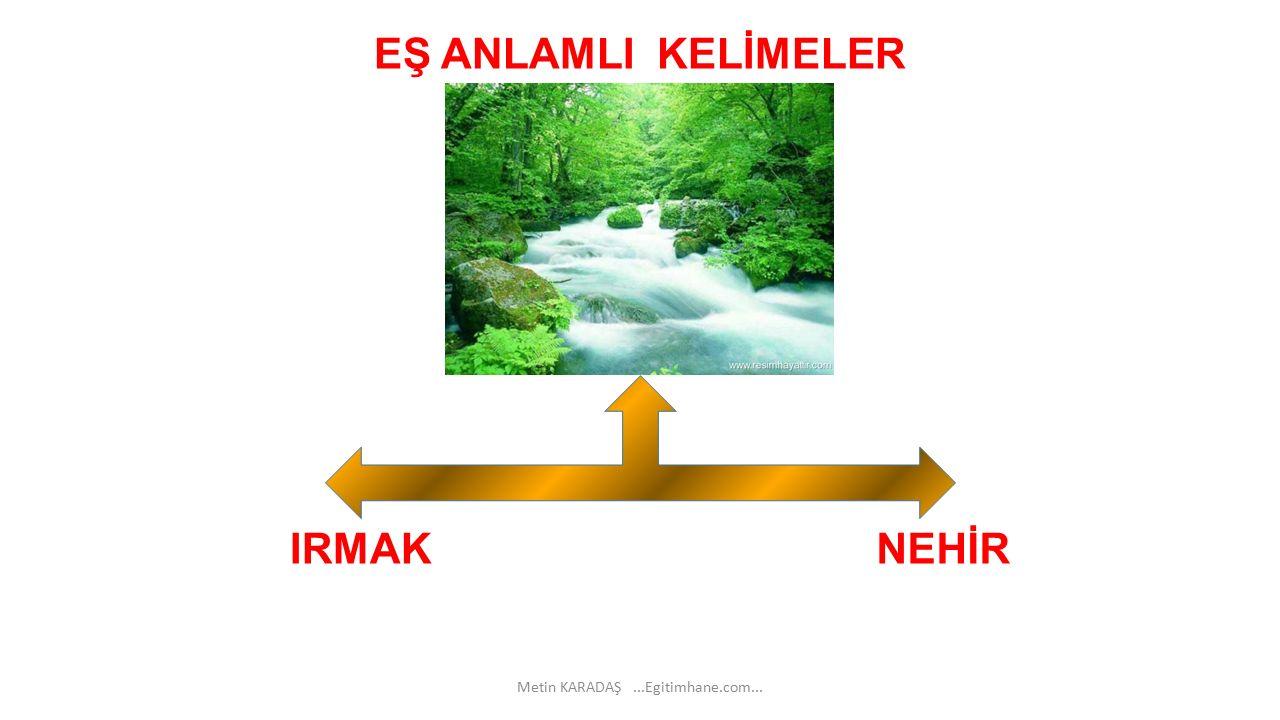 EŞ ANLAMLI KELİMELER NEHİRIRMAK Metin KARADAŞ...Egitimhane.com...