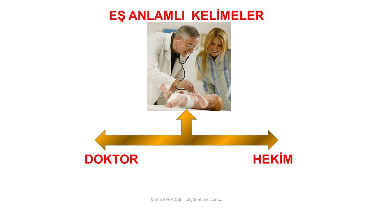 EŞ ANLAMLI KELİMELER DOKTOR HEKİM Metin KARADAŞ...Egitimhane.com...