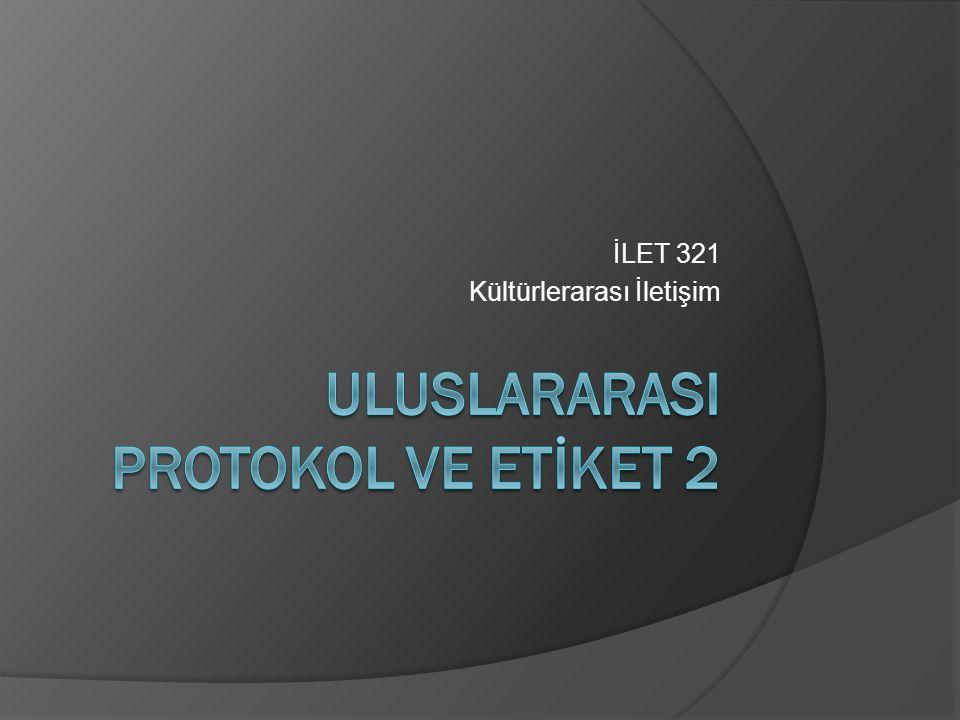 İLET 321 Kültürlerarası İletişim