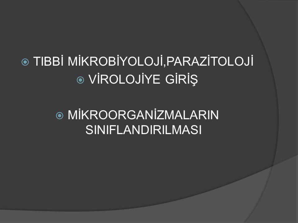  TANIM  Mikroorganizmaların özelliklerini,yüksek canlılarla ve birbirleriyle olan ilişkilerini inceleyen bilim dalıdır.