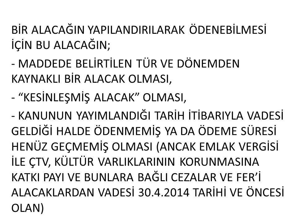 BELEDİYELERCE TAKİP EDİLEN ALACAKLAR 1.