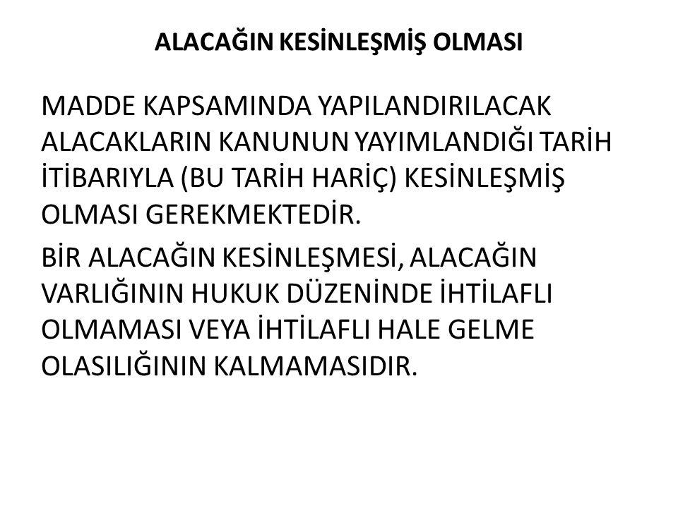 ALACAK TUTARININ TESPİTİ KANUNUN 73.