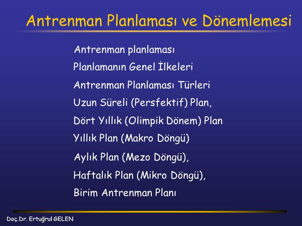Antrenman Planlaması ve Dönemlemesi Doç.Dr.