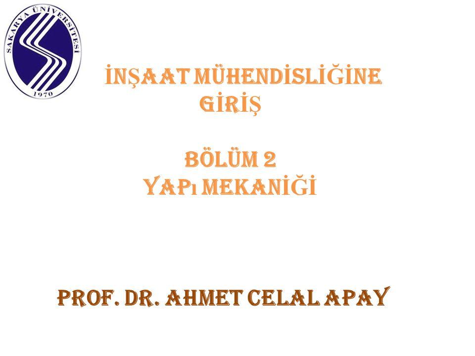 İ N Ş AAT MÜHEND İ SL İĞİ NE G İ R İŞ BÖLÜM 2 yap ı mekan İĞİ prof. dr. ahmet celal apay