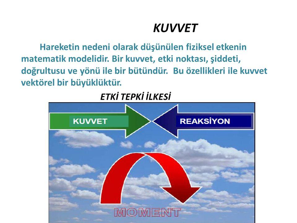 DENGE KAVRAMI: Rijit cisimler yada yapı sistemleri üzerinde etkili bilinmeyen kuvvetlerin ve momentlerin belirlenmesinde denge kavramı kullanılır.