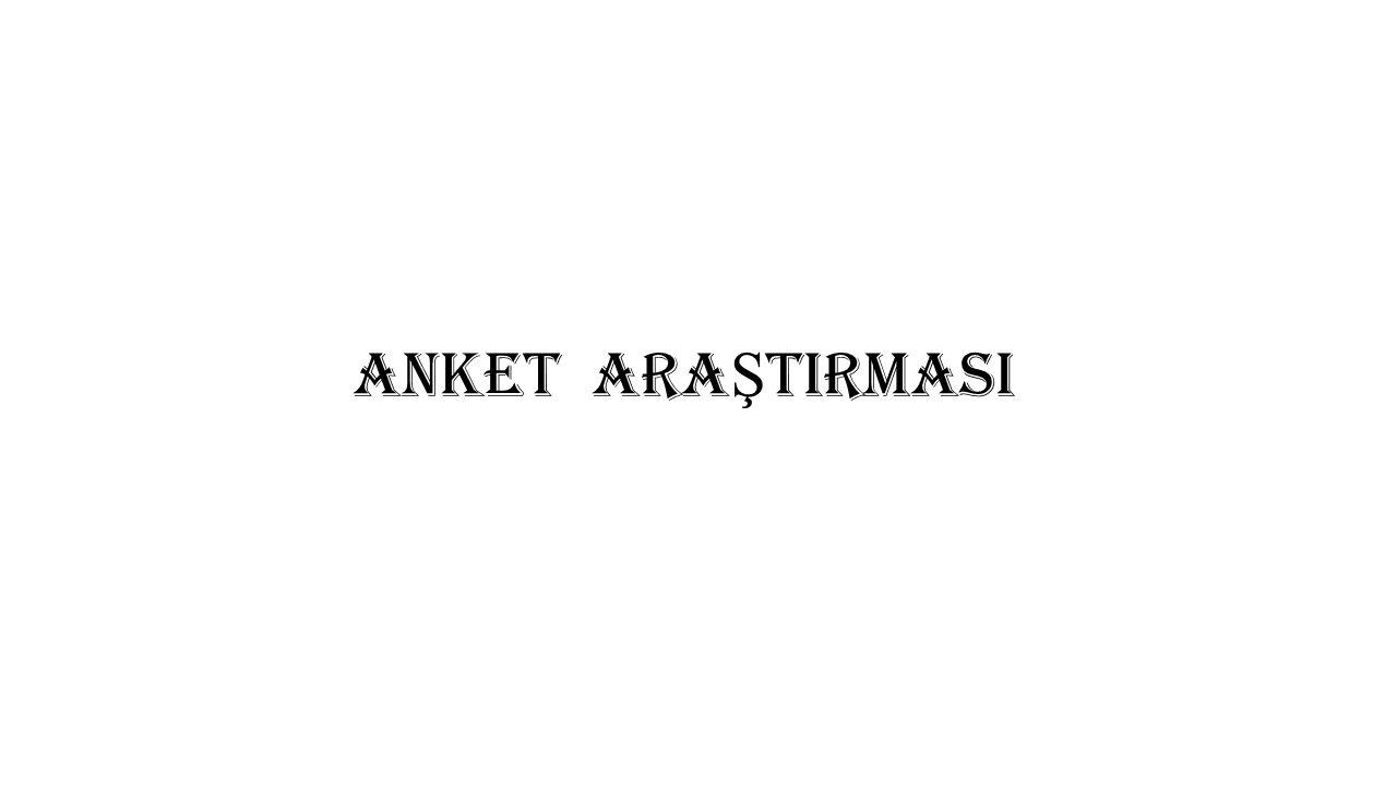 ANKET ARA Ş TIRMASI