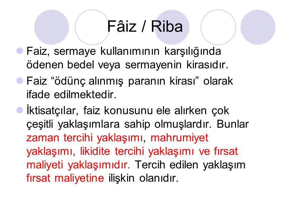 İslam Dininde Faizin Tanımı ve Türleri Faiz, borç mukabilinde alınan önceden belirlenmiş bir fazlalıktır.