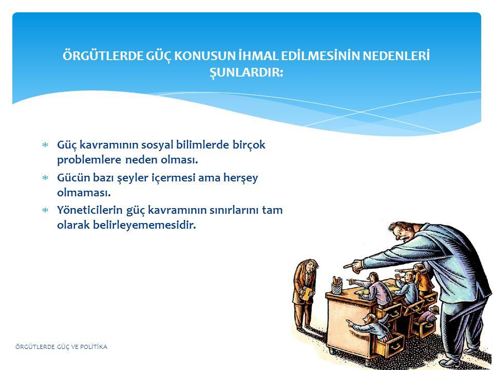 GÜCÜN TEMELLERİ BEŞ GRUPTA TOPLANMIŞTIR.