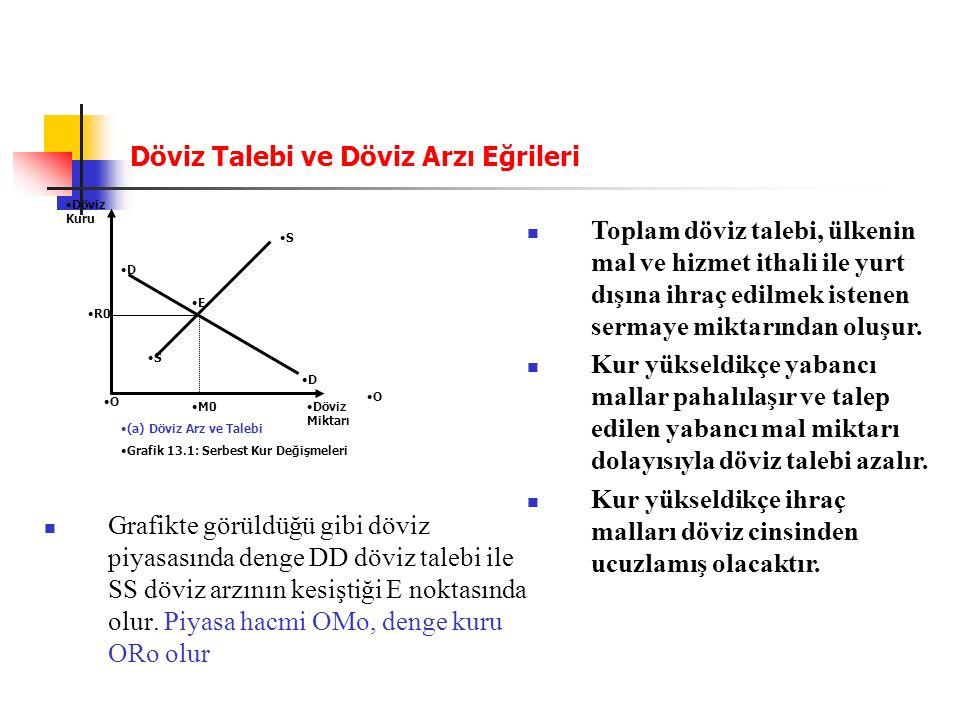 30 Reel Döviz Kurları R (Reel Döviz Kuru) E (nominal döviz kuru) Pf (dış enflasyon oranı) P(yurtiçi enfalsyon oranı) R = E x Pf P