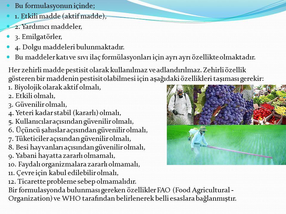 Pestisit: Tarım ürünlerine ve hayvansal gıdalara; üretim, hasat, depolama ve taşıma esnasında zarar veren herhangi bir zararlıyı (zararlı ot dahil) ko