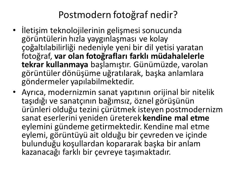 Postmodern fotoğraf nedir.