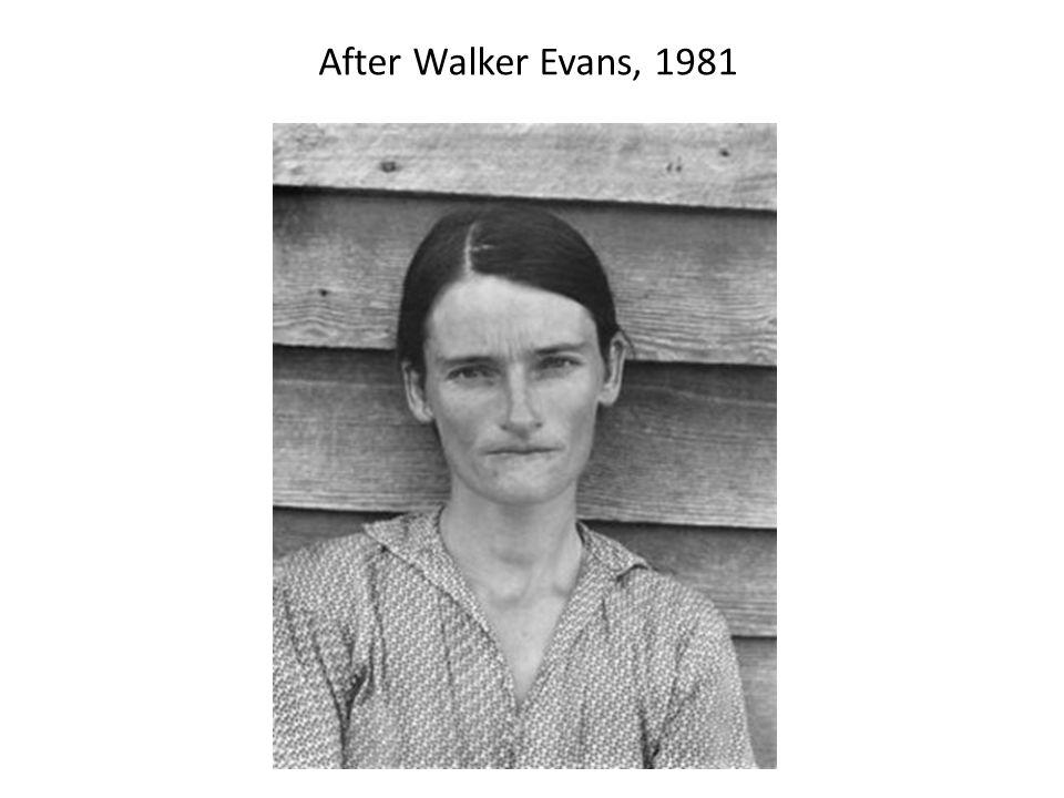 After Walker Evans, 1981