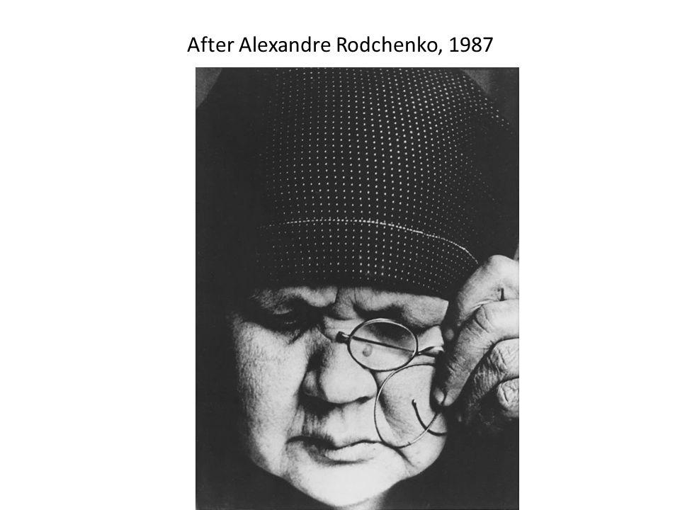 After Alexandre Rodchenko, 1987