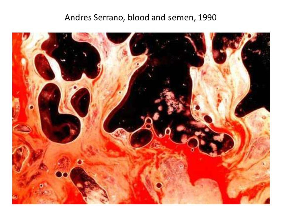 Andres Serrano, blood and semen, 1990