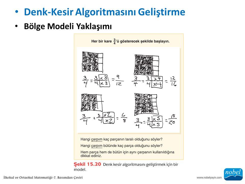 Denk-Kesir Algoritmasını Geliştirme Bölge Modeli Yaklaşımı