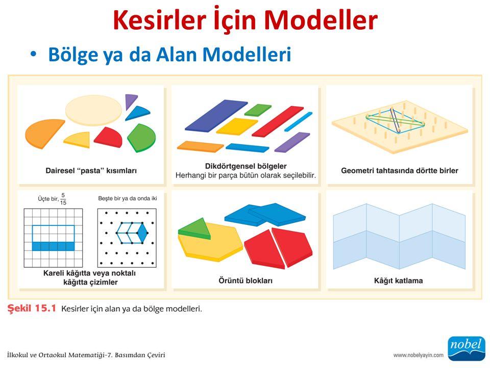 Kesirler İçin Modeller Bölge ya da Alan Modelleri