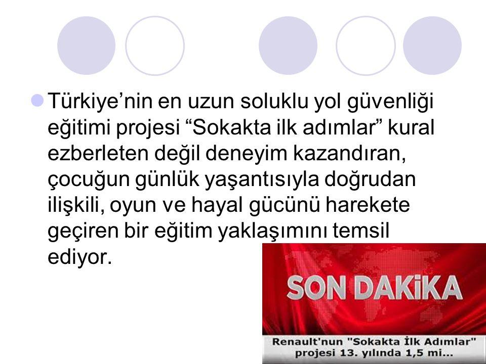 """Türkiye'nin en uzun soluklu yol güvenliği eğitimi projesi """"Sokakta ilk adımlar"""" kural ezberleten değil deneyim kazandıran, çocuğun günlük yaşantısıyla"""